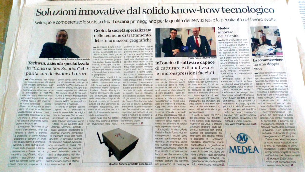 Trust-IT cited by national daily, Il Sole 24 Ore for its innovative